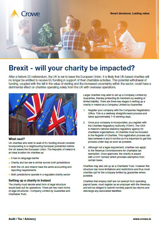 Impact of Brexit on uk-based charities - Crowe Ireland