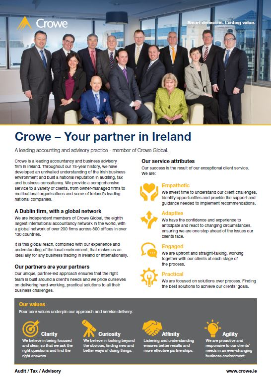 Crowe - Your partner in Ireland