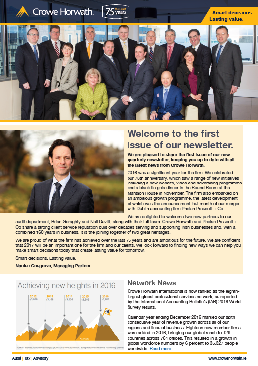 Crowe Ireland Newsletter Issue 1