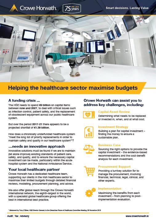 Healthcare Budget Services - Crowe Horwath Ireland