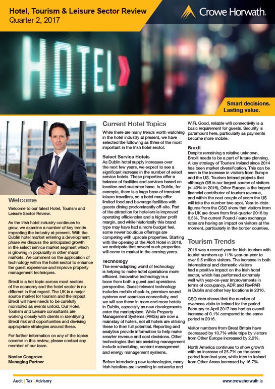 Hotel, Tourism & Leisure review Q2 2017