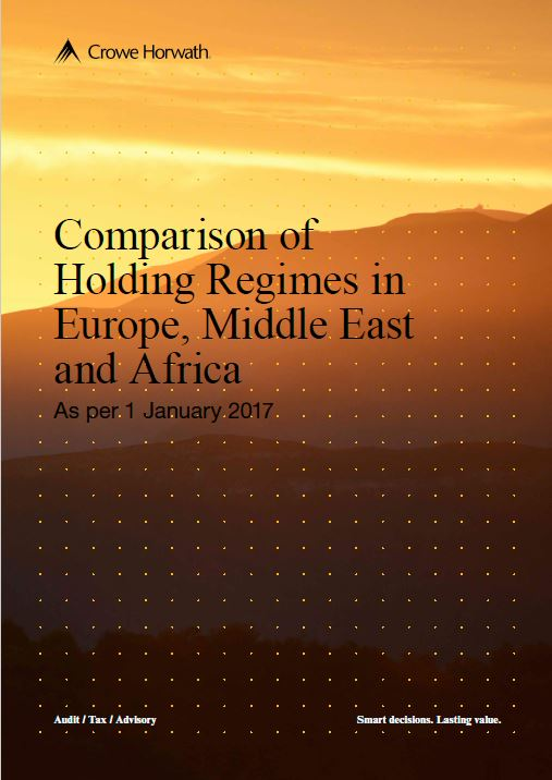 Comparison of Holding Regimes in Europe, Middle East and Africa - Crowe Horwath Ireland