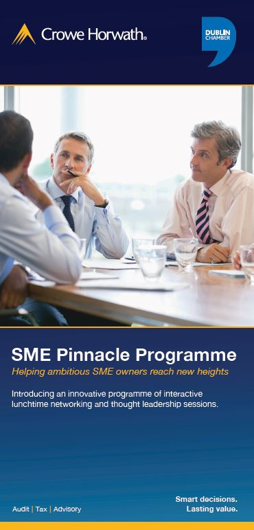 SME Pinnacle Programme Autumn 2017 series - Crowe Horwath Ireland