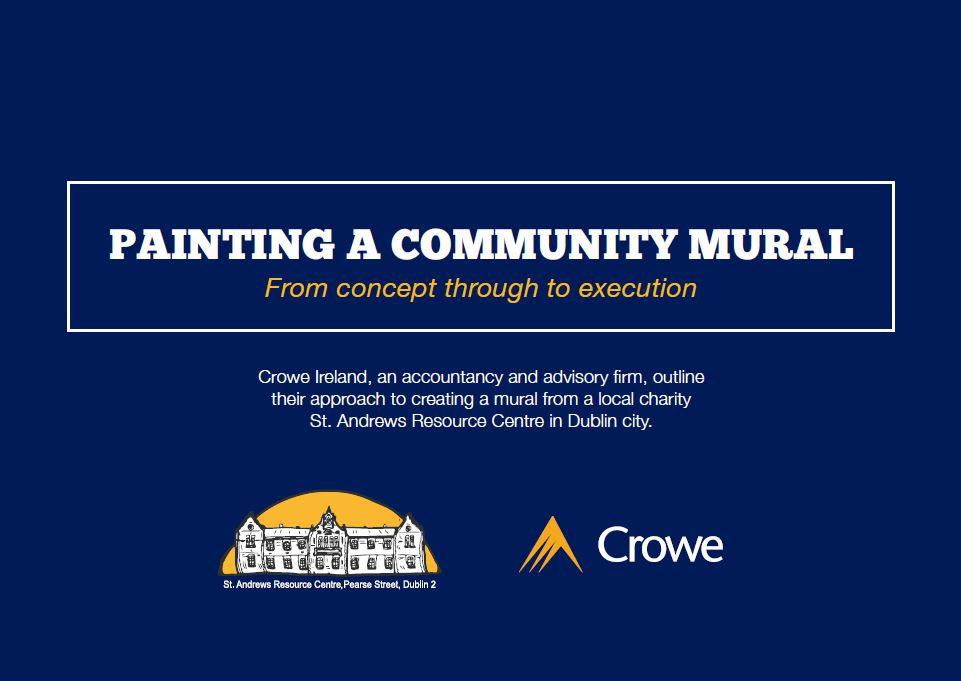 Paining community mural - Crowe Ireland