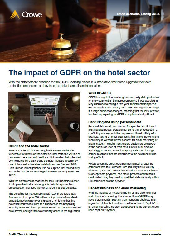 GDPR Hotel Sector - Crowe Ireland