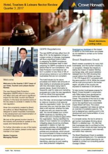 Hotel, Tourism and Leisure review Q3 2017 - Crowe Horwath Ireland