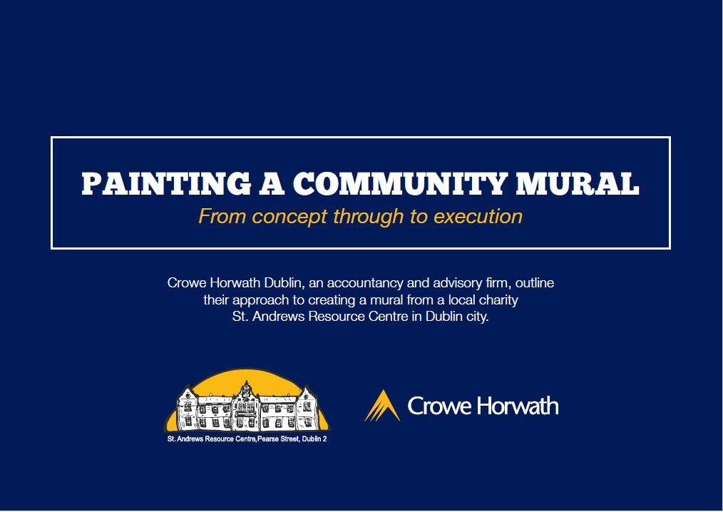 painting a community mural - Crowe Horwath Ireland