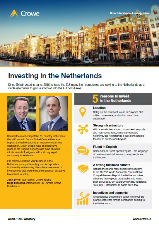 Investing in the Netherlands - Crowe Ireland