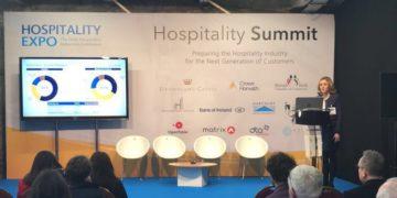 Mairea Doyle Balfe speaks at the IHI Hospitality Expo 2018 - Crowe Ireland