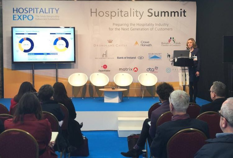 Mairea Doyle Balfe speaks at the IHI Hospitality Expo 2018 - Crowe Ireland