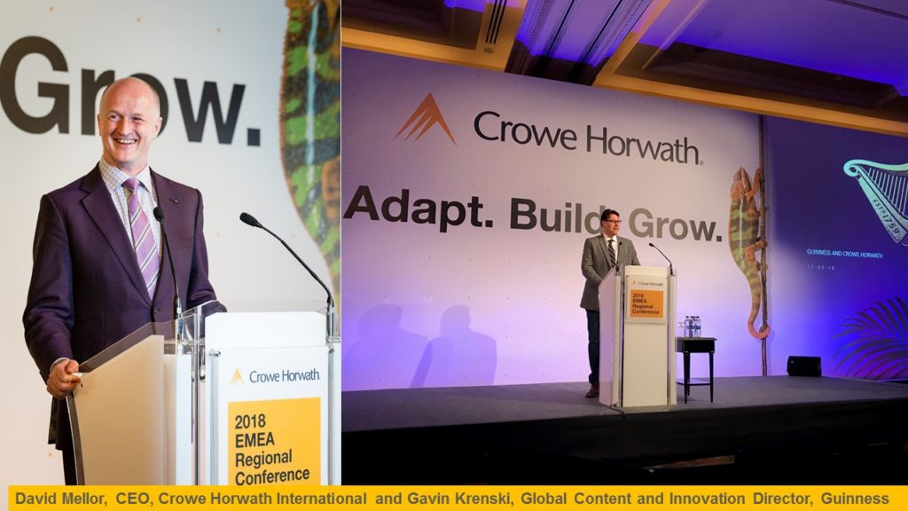 David Mellor, Gavin Krenski, 2018Crowe EMEA Conference