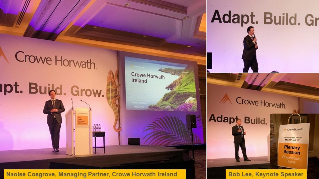 Naoise Cosgrove, Bob Lee, 2018Crowe EMEA Conference
