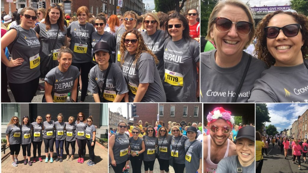 Crowe Ireland take part in 2018 Women's Mini Marathon to support Depaul