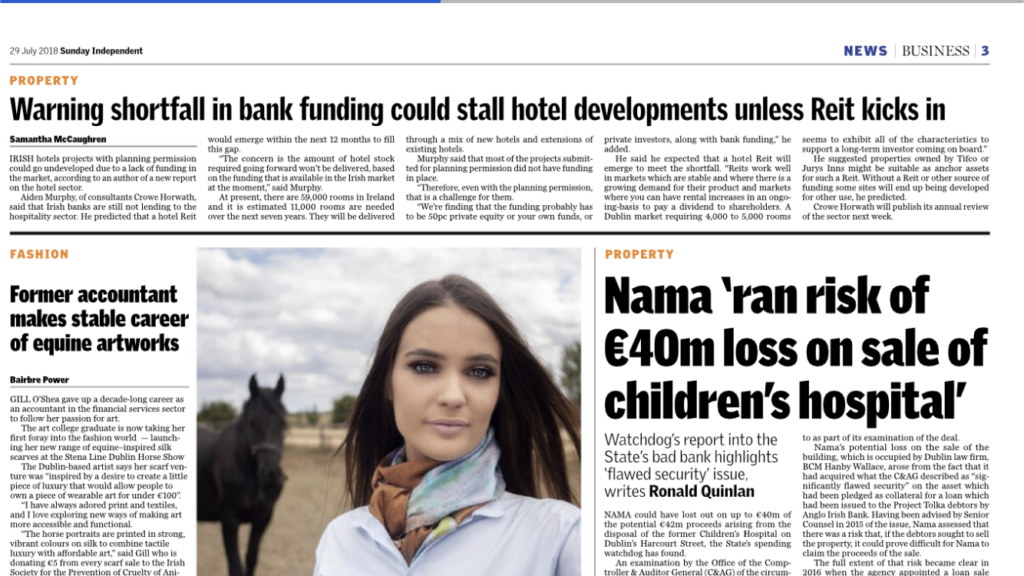Irish hotel developes need REITs for funding - Crowe Ireland