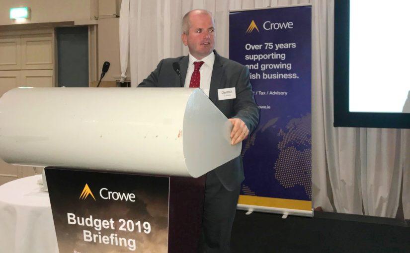 Budget 2019 economist Dermot O'Leary - Crowe Ireland