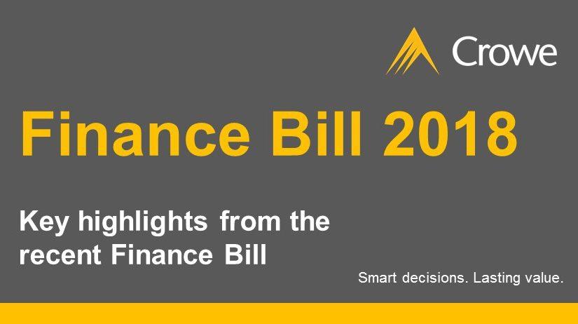 Crowe Ireland Finance Bill 2018 Highlights