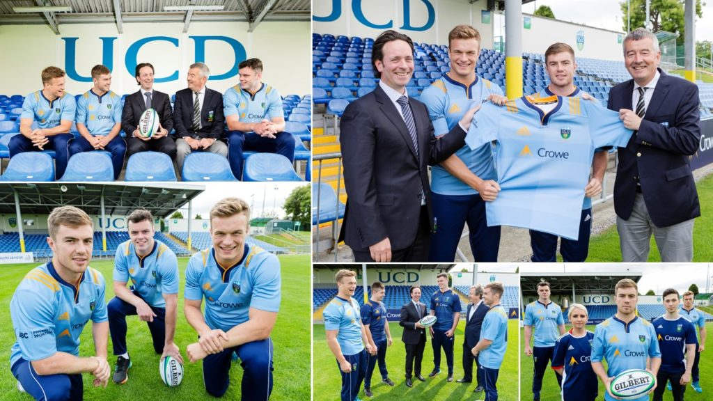 Crowe launches new adidas kit for UCD RFC
