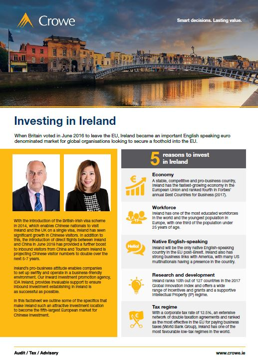 Chinese investment into ireland English version - Crowe Ireland
