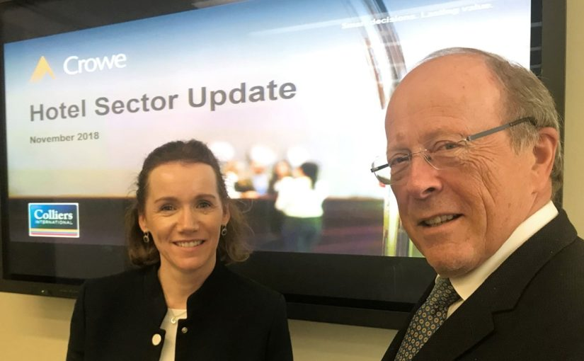 Crowe Ireland's Mairea Doyle-Balfe presenting update on Irish hotel sector