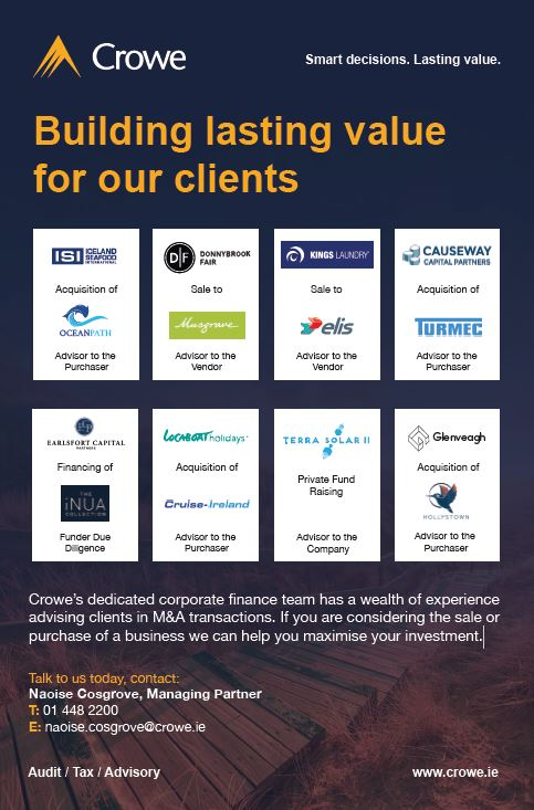 Crowe Ireland - Your M&A partner in 2019