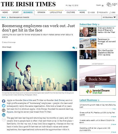 Rise of boomerang employee - Crowe Ireland