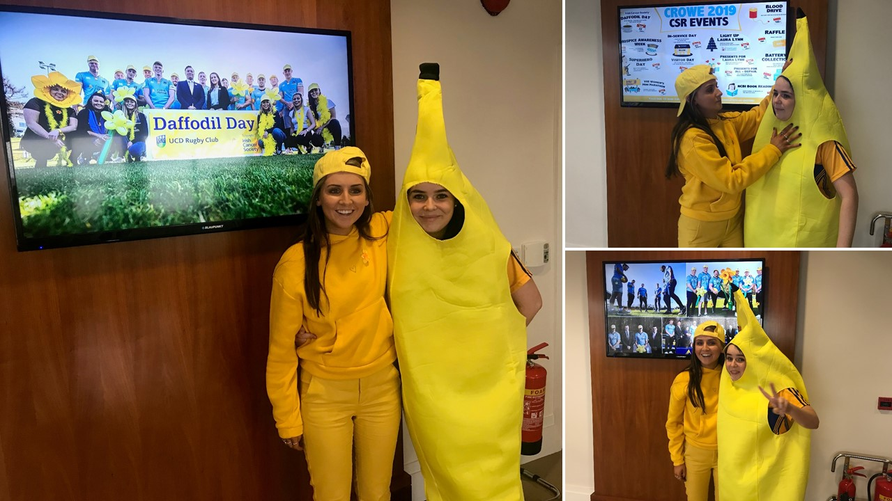 Crowe Ireland staff dress up to raise funds for 2019 Daffodil Day