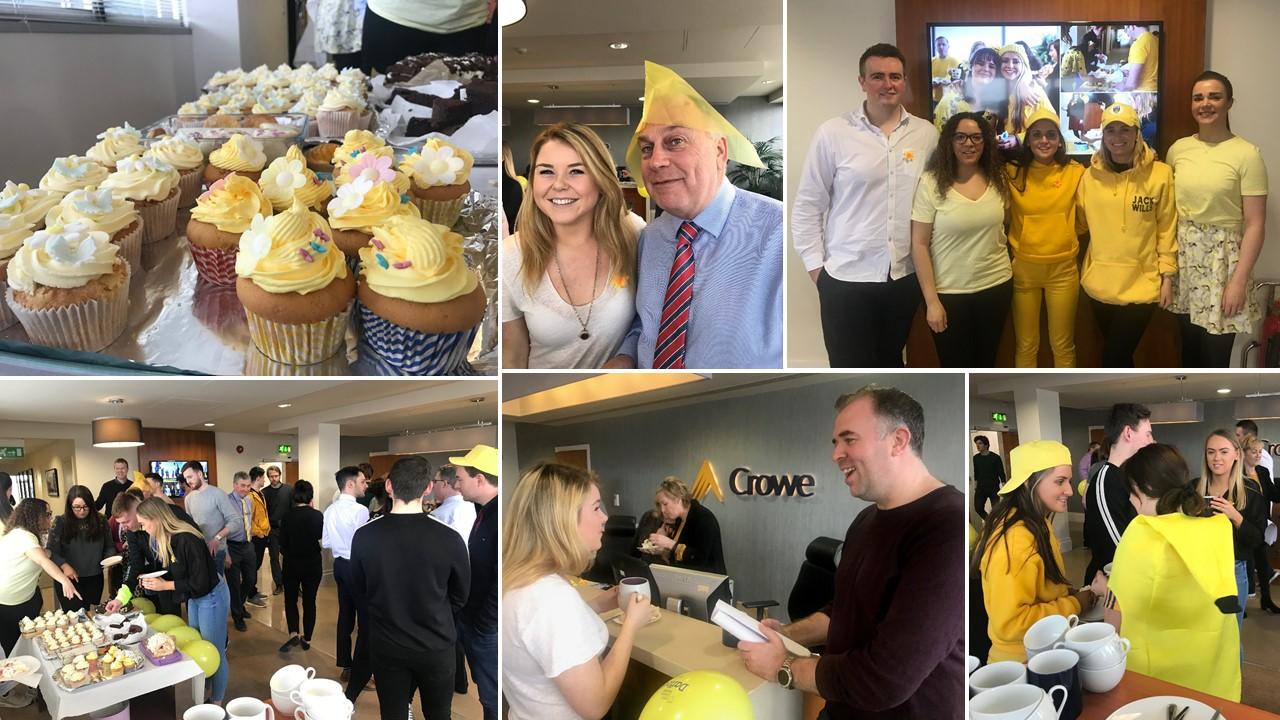 Crowe Ireland staff organise calke sale to raise money for Irish Cancer Society