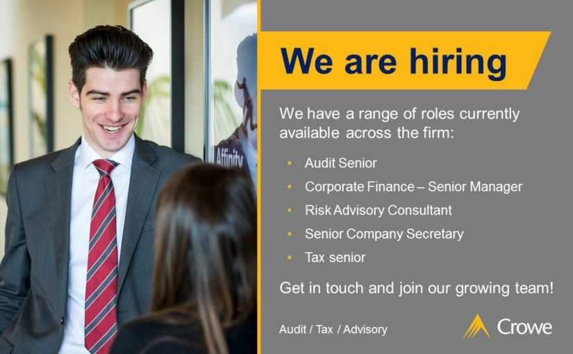 Audit, Tax, Corp Finance, Private Client and Consulting vacancies - Crowe Ireland