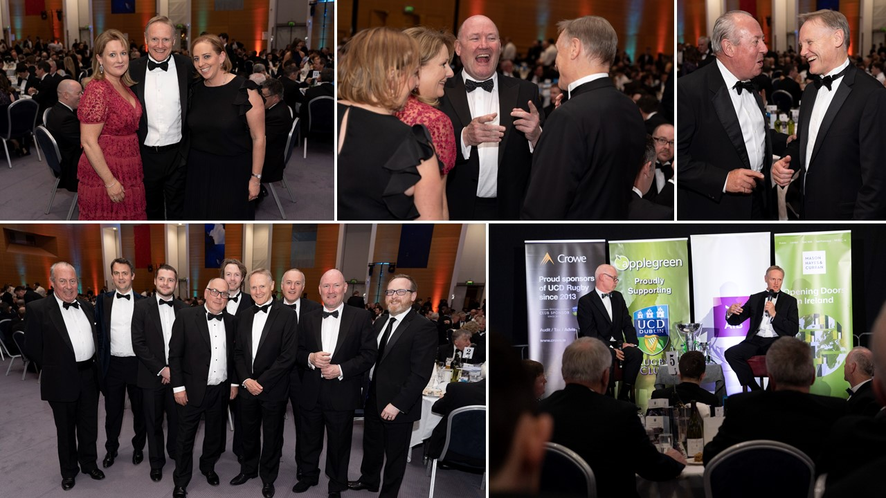 Crowe attends 2019 annual UCD rugby dinner