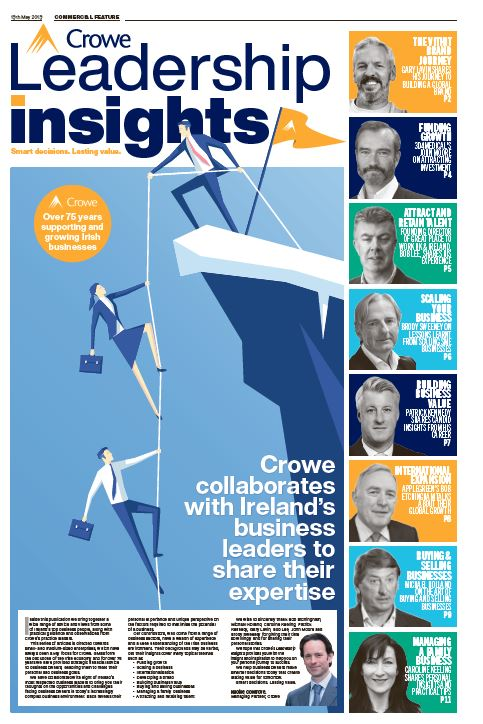 Sunday Times Leadership Insights supplement - Crowe Ireland
