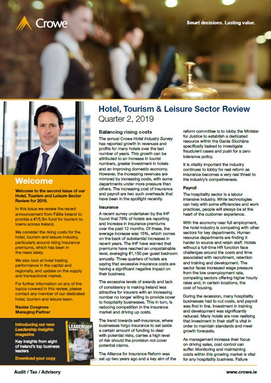 Hotel, Tourism and Leisure Sector Review Q2 2019