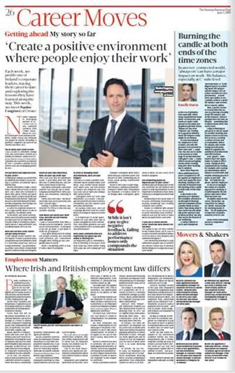 Sunday Business Post profile Crowe Ireland Naoise Cosgrove