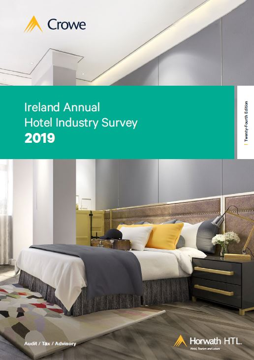 2019 Hotekl Insudtry Survey cover - Crowe Ireland