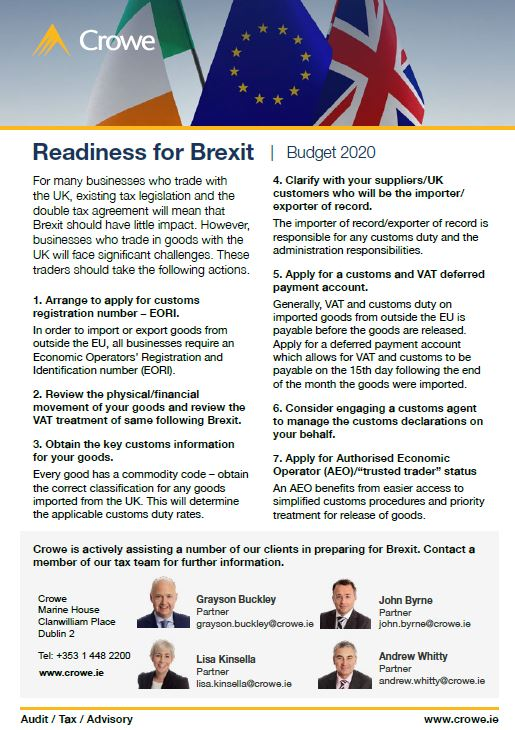 Steps to Brexit readiness - Crowe Ireland