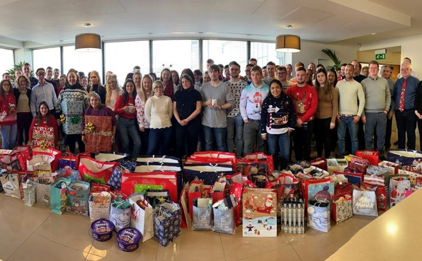 Crowe staff supporting Depaul's 2019 'Presents for All' Christmas appeal